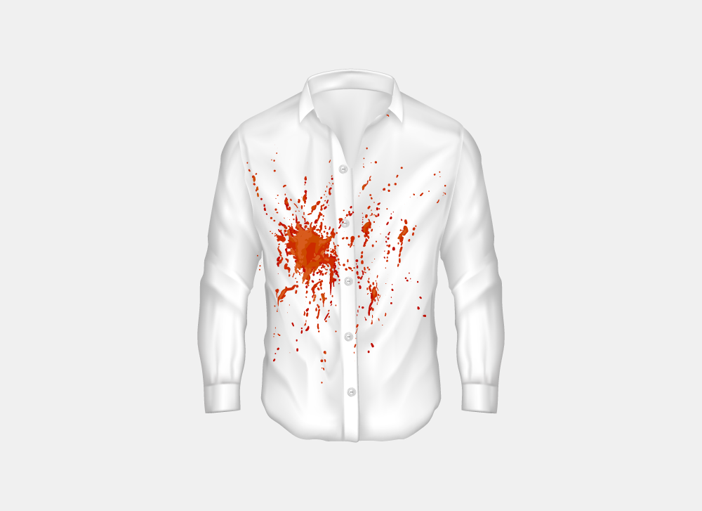 blood stains on clothes