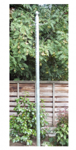 FJB, Galvanised Washing Line Clothes Post with Ground Socket 2.5 meters