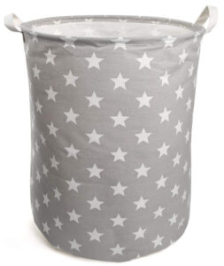 Ballery Large Laundry Basket, Collapsible Laundry Hamper, Water-proof Round Cotton Linen