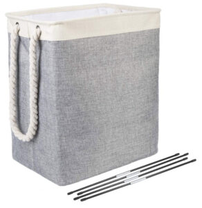 Brilliant-Jo Laundry Baskets, Collapsible Linen Laundry Hamper Washing Basket with Handles