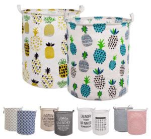 LessMo 2-PCS 17.7″ Laundry Basket Storage Sorter, Collapsible Pop-Up Laundry Hampers