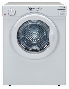 White Knight C39AW 3.5 kilo grams Compact Vented Tumble Dryer in White