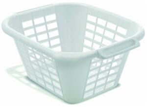 ADDIS 24 Litre Square Laundry Basket, Linen