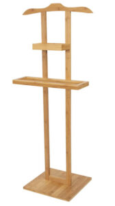 Compactor Balto Bathroom Storage Valet Stand, Bamboo-Beige