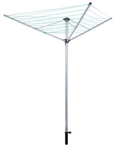 Our-House SR20101 Rotary Airer, 3 Arm Steel, Powder Coated, Silver Color